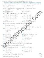 Bài tập phương trình, hệ phương trình hay và khó_nhất định phải xem