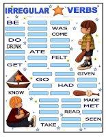 9564 irregular verbs for boys