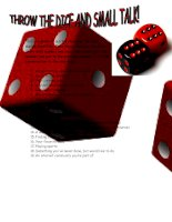172 small talk dice throw game