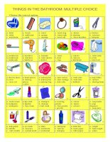12804 things in the bathroom multiple choice