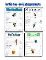 272 bar menus