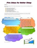 215 five ideas for better sleep
