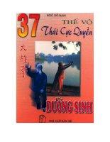 EBOOK 37 THẾ võ THÁI cực QUYỀN DƯỠNG SINH   NXB TRẺ