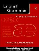 Sách luyện thi tiếng anh:  English Grammar  Richard Hudson