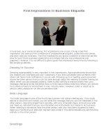 16301 business etiquette