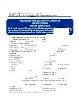 Bài tập về các dạng so sánh của tính từ và trạng từ