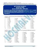 Bài tập các quy tắc phát âm phần 2