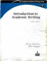 introdution to academic writing