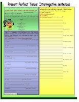 11526 present perfect tense  interrogative sentence  elementary  grammar guide  6 task  with key  fully editable  bw