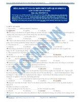 Bài tập danh từ và các kiến thức liên quan (phần 1) có đáp án