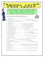5212 regular past tense verbs