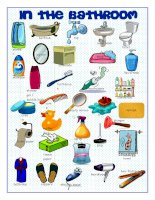 60840 bathroom picture dictionary