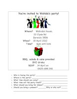 34645 wahidas birthday party invitation
