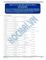 Bài tập tính từ và các kiến thức liên quan phần 1