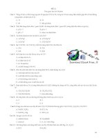30 đề LUYỆN THI đại học môn HOÁ   có đáp án (PHẦN 2)