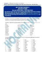 Bài tập các quy tắc phát âm