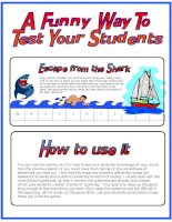 953 escape from the shark fun way to test students