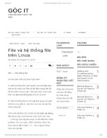 File và hệ thống file trên linux   góc IT