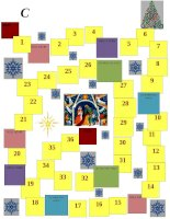 63157 christmas board game template