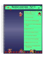 10240 to be and to have got revision  more questions  part 3  2 pages  4 exercises  with key