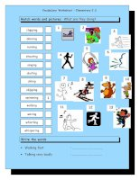 12286 vocabulary matching worksheet  elementary 23 action verbs