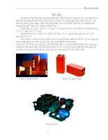Thiết kế máy đập 2 trục sản xuất gạch  roller crusher (thuyết minh+bản vẽ)