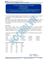 Bài tập cấu trúc bảng phát âm và các khái niệm