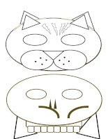 12275 halloween   carnival masks  black and white