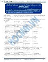 Bài tập từ đồng nghĩa (synonym) và từ trái nghĩa (antonym)