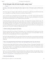 10 lời khuyên hữu ích khi chuyển sang linux