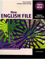 oxford   new english file beginner students book