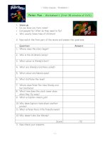 12603 video worksheets for the classic disney movie peter pan