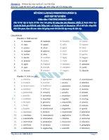 Bài tập kỹ năng làm bài phonetics phần 2