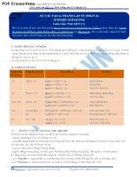 Sự cấu tạo và thành lập từ (word formation) (phần 2)