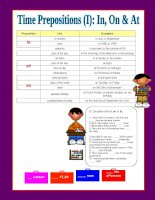 5367 prepositions of time inon  at i