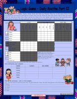 8712 logic game 20th  daily routine part ii  for elementary ss  with key  fully editable  reuploaded msword2003
