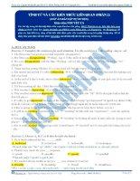 Bài tập tính từ và các kiến thức liên quan phần 2 có đáp án