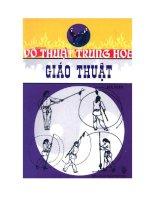 EBOOK võ THUẬT TRUNG HOA   GIÁO THUẬT (PHẦN 1)   hà sơn