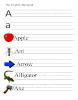 53871 the alphabet  letter a