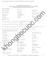 Bài tập tích phân   nguyên hàm   ứng dụng