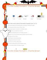 32471 its the great pumpkin charlie brown movie worksheet