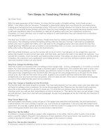 Ten steps to teaching perfect writing
