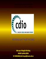CDIO  nội dung và kỹ thuật áp dụng