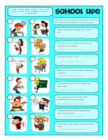 57954 school life matching exercises