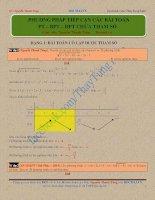 phương tình bất phương trình hệ phương trình chứa tham số