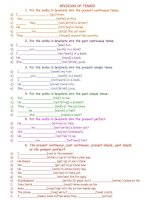 14001 revision of tenses
