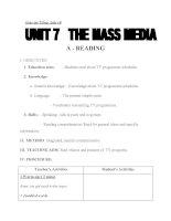 Giáo án Tiếng Anh 10 Unit 7: The mass media