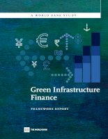 A WORLD BANK STUDY Green Infrastructure Finance