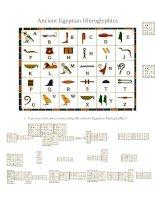 50401 reading egyptian hieroglyphics