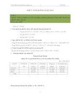 1 Số bài tập và đáp án môn Kế Toán Quản Trị nâng cao
